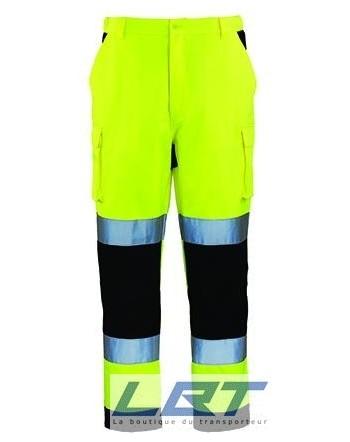 PATROL Pantalon hi-viz, 245g/m², 3M, jaune/marine