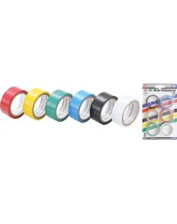 Bande adhésif multicolore | 19 x 3,5m | 6pièces